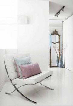 White-Interior-and-Barcelona-Chair-Decoration