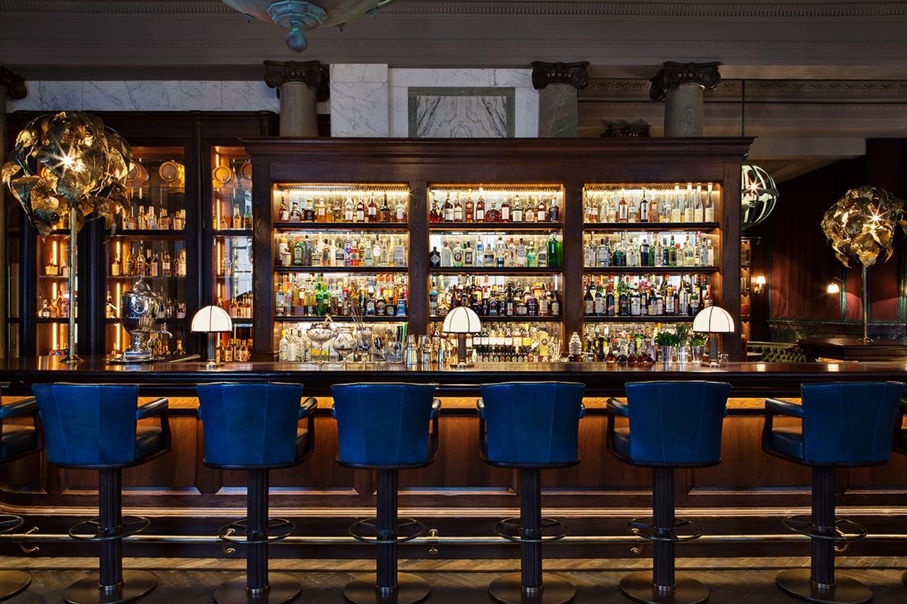 Un bar único dentro de uno de los mejores hoteles londinenses: Scarfes bar en el Rosewoodhotel.