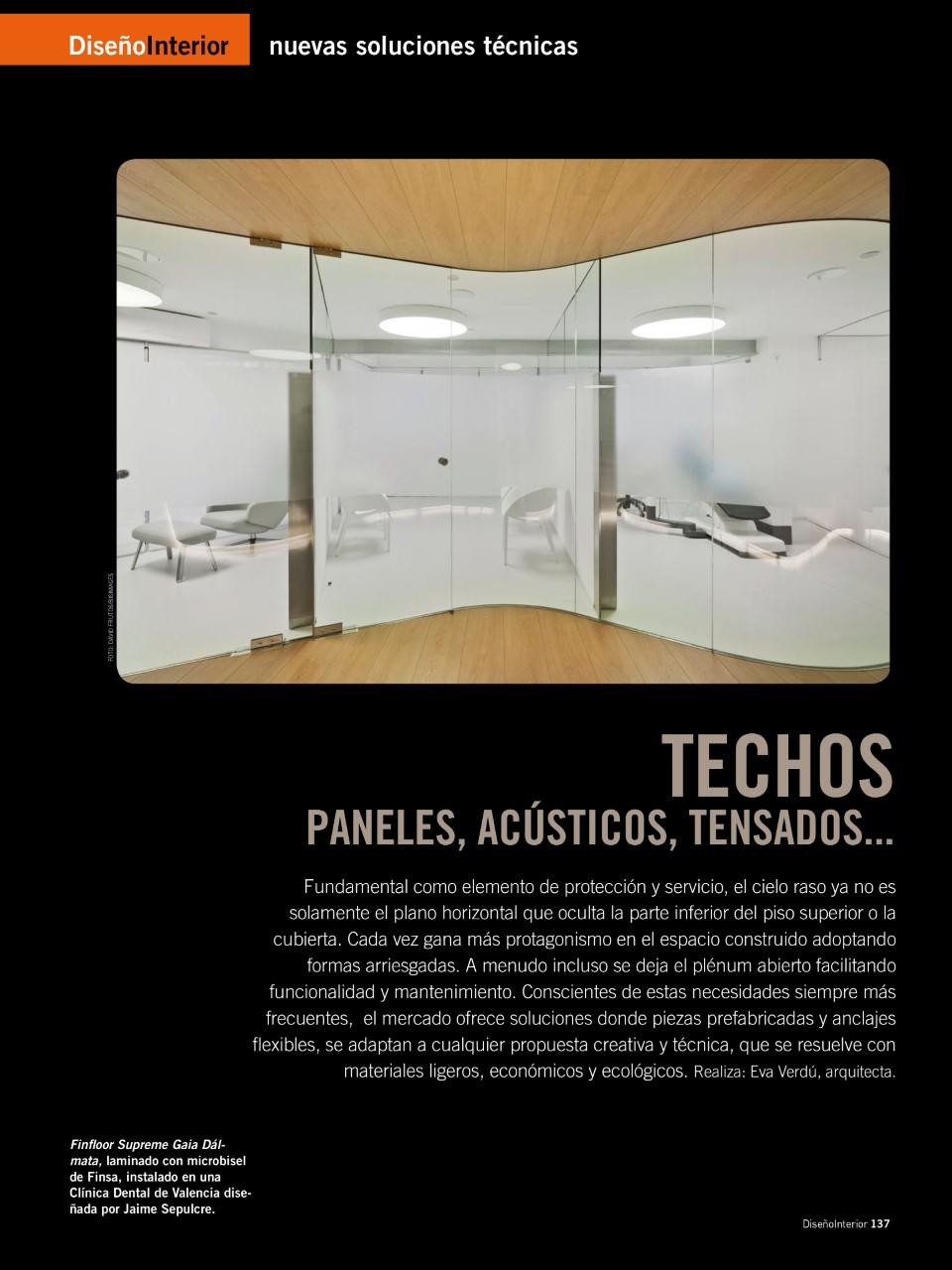 Techos: Paneles, acústicos,tensados..