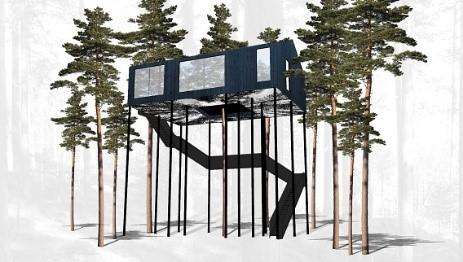 Un hotel en un árbol: The 7throom