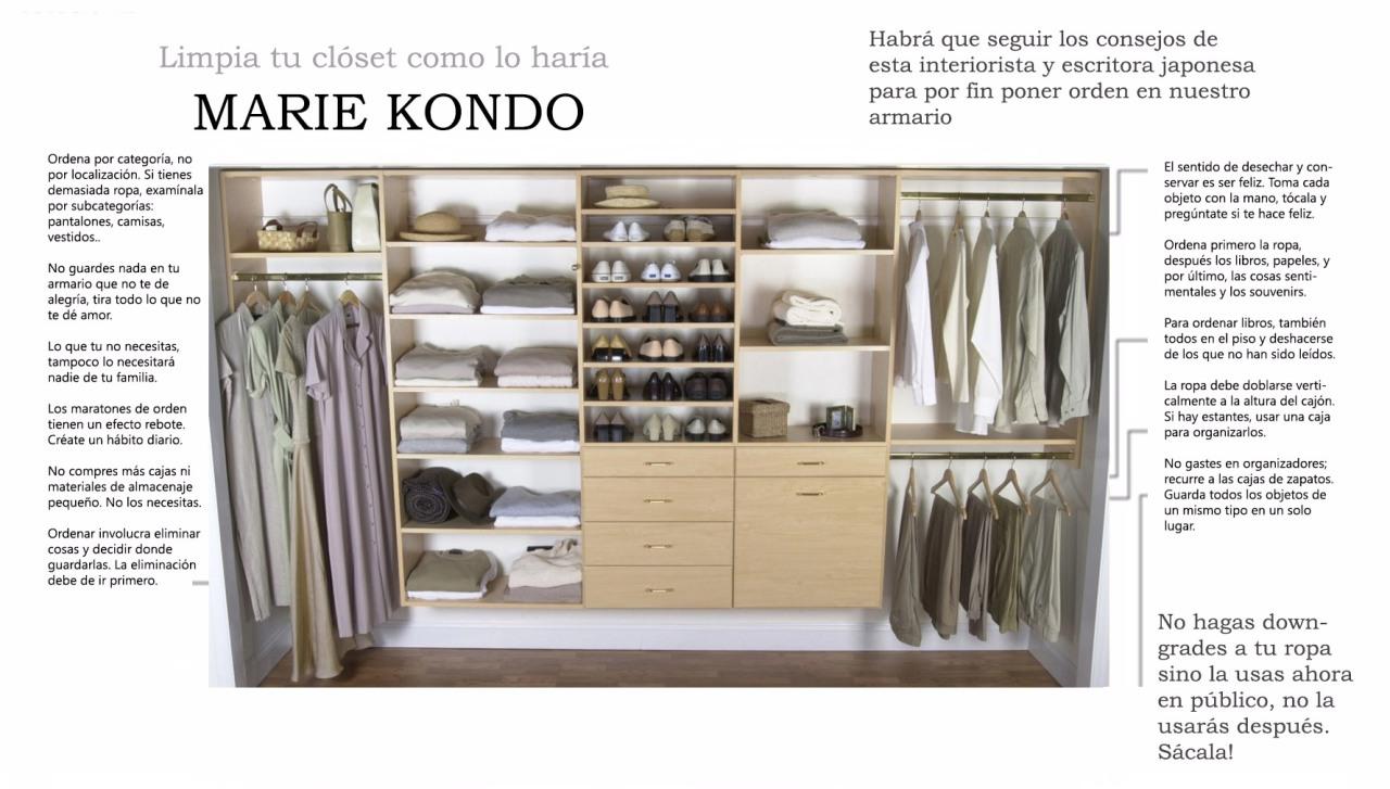 Limpia tu closet como MarieKondo