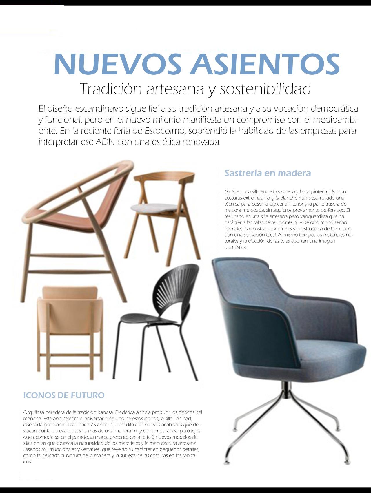Nuevos asientos: Tradición artesana ysostenibilidad